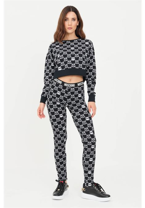 Printed women's leggings with elastic waistband by moschino MOSCHINO | Leggings | V431290275610