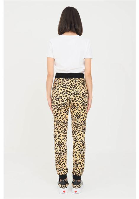 Pantaloni donna a fantasia moschino modello casual MOSCHINO | Pantaloni | V431490161888