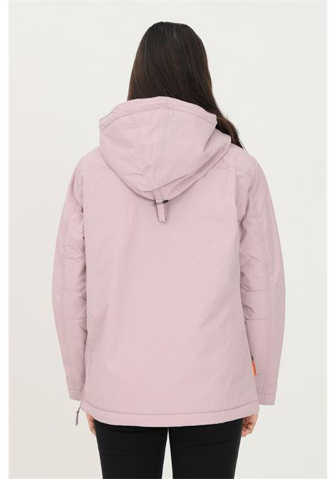 Giubbotto donna rosa napapijri con cappuccio e patch logo frontale NAPAPIJRI | Giubbotti | NP0A4EH3P6I1P6I1
