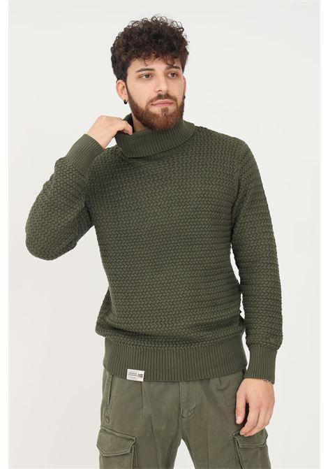 Green men's sweater by napapijri, high neck NAPAPIJRI | Knitwear | NP0A4FMBGE41GE41