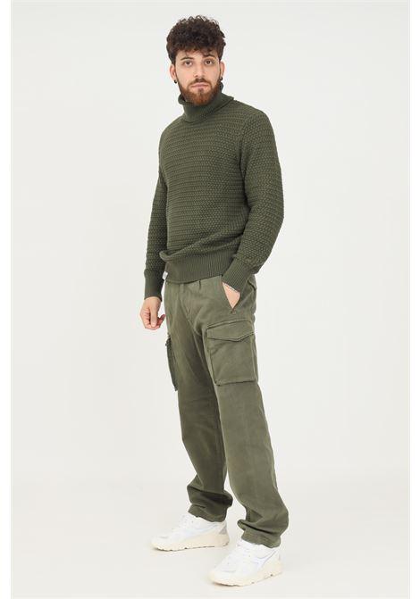Green men's trousers by napapijri, casual model with side pockets NAPAPIJRI | Pants | NP0A4FMWGE41GE41