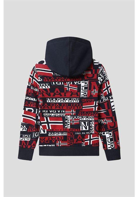 Baby burgee AOP hoodie by napapijri with allover lettering print NAPAPIJRI | Sweatshirt | NP0A4FOSF7K1F7K1