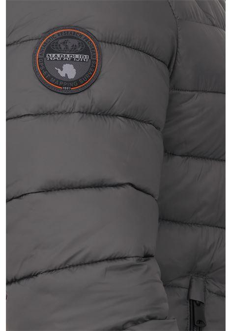 Grey men's down jacket by napapijri with hood  NAPAPIJRI | Jacket | NP0A4FPY19811981
