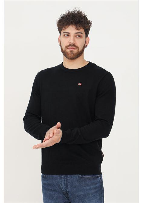 Maglioncino uomo nero napapijri modello girocollo NAPAPIJRI | Maglieria | NP0A4FQ604110411