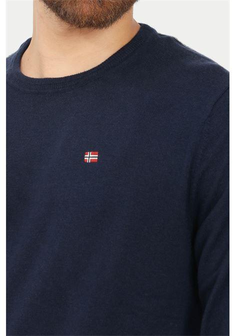 Maglioncino uomo blu napapijri modello girocollo NAPAPIJRI | Maglieria | NP0A4FQ617611761