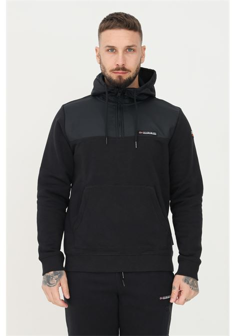 Black men's hoodie by napapijri with half zip NAPAPIJRI | Sweatshirt | NP0A4FQF04110411
