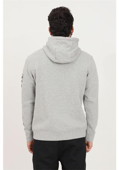 Felpa uomo grigio napapijri con cappuccio e stampa logo a contrasto NAPAPIJRI | Felpe | NP0A4FQM16011601