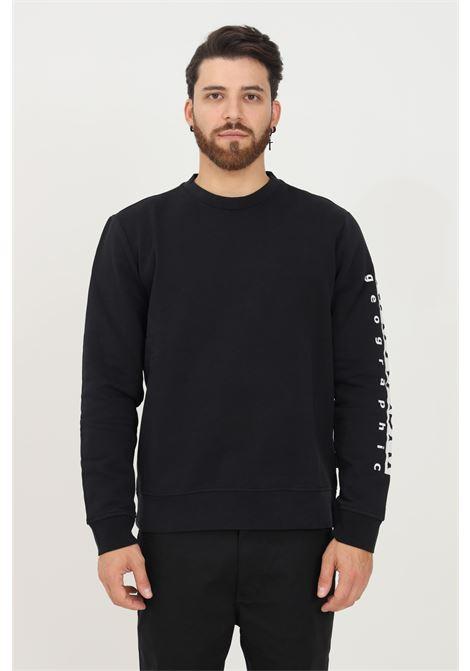 Felpa uomo nero napapijri modello girocollo con stampa logo a contrasto sulla manica NAPAPIJRI | Felpe | NP0A4FQN04110411