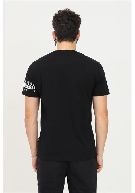 Black men's t-shirt by napapijri with logo print on the sleeve NAPAPIJRI | T-shirt | NP0A4FRH04110411