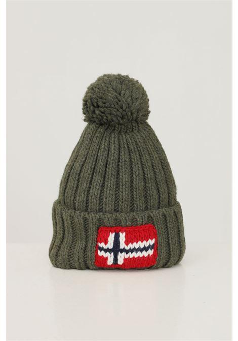 Cappello unisex verde militare napapijri con ricamo logo frontale NAPAPIJRI | Cappelli | NP0A4FRTGE41GE41