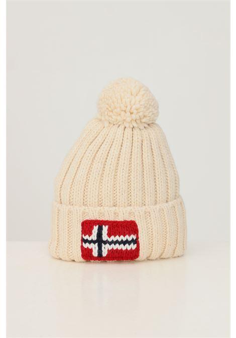 Cappello unisex crema napapijri con ricamo logo frontale NAPAPIJRI | Cappelli | NP0A4FRTNS51NS51