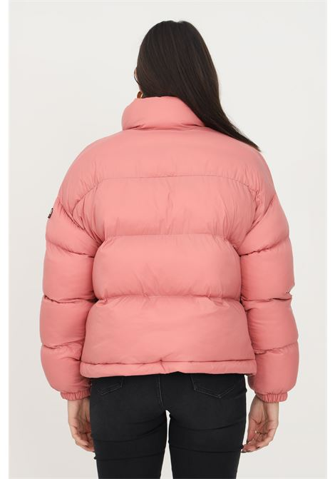 Piumino box puffer da donna rosa napapijri con logo frontale a contrasto NAPAPIJRI | Giubbotti | NP0A4FS2PB11PB11