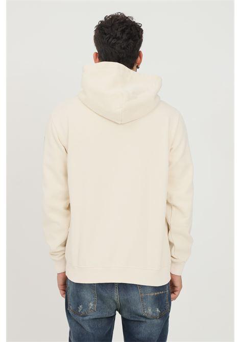Cream men's hoodie by napapijri with maxi pocket on the front NAPAPIJRI | Sweatshirt | NP0A4FUZNS51NS51