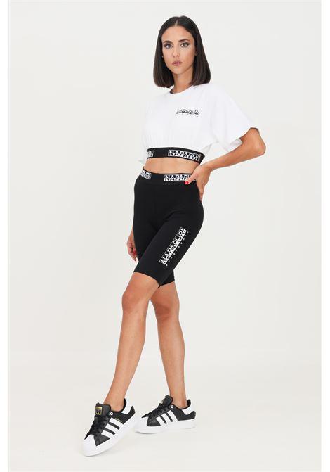 Black women's shorts by napapijri with elastic logo band NAPAPIJRI | Shorts | NP0A4FVC04110411