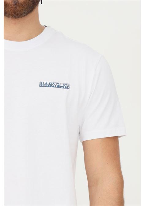 White men's t-shirt by napapijri with maxi print on the back, short sleeve NAPAPIJRI | T-shirt | NP0A4FVG02210221