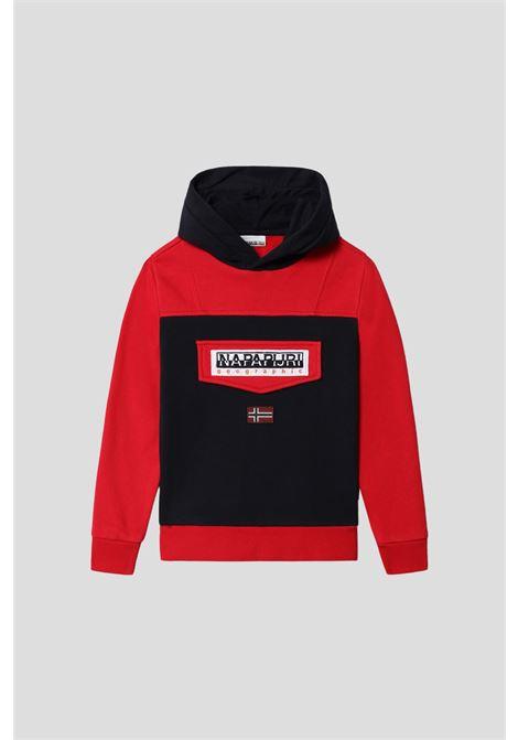 Red baby hoodie by napapijri NAPAPIJRI | Sweatshirt | NP0A4FW1MAC1MAC1