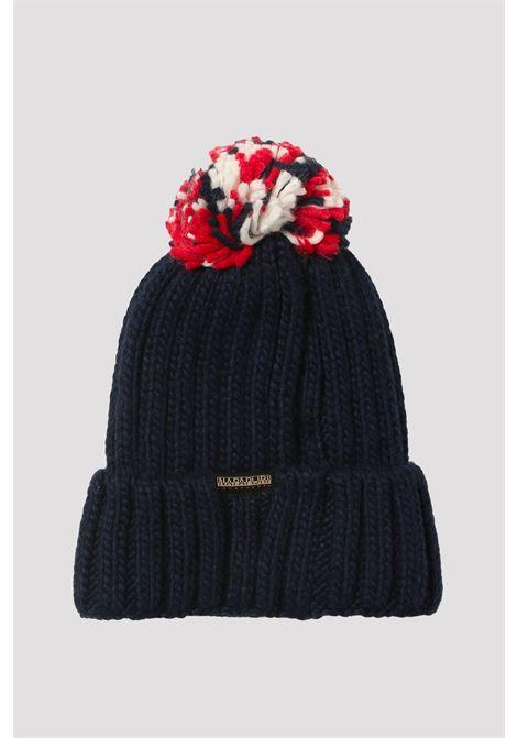 Cappello blu neonato napapijri con risvolto NAPAPIJRI | Cappelli | NP0A4FW217611761