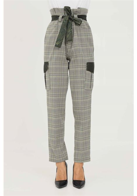 Green women's trousers by NBTS with belt at the waist NBTS | Pants | NB2122006.