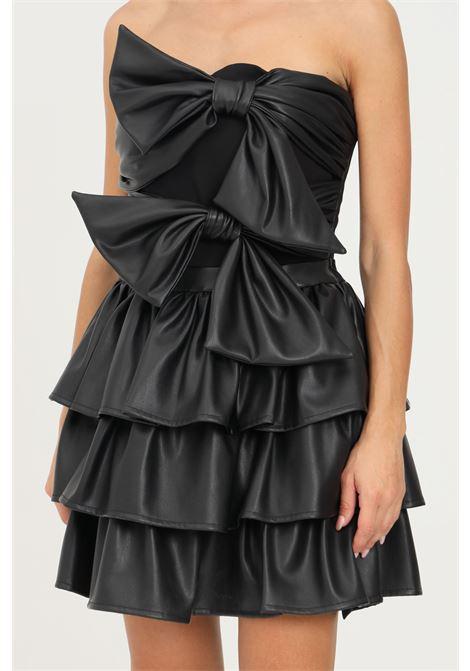 Black dress by nbts short model in eco leather NBTS | Dress | NB2122020NERO