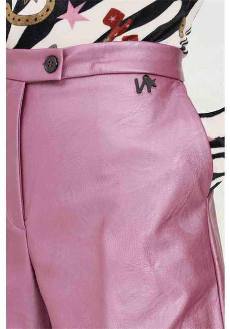 Violet women's shorts by nbts, casual model in eco-leather NBTS | Shorts | NB2122076ORCHIDEA