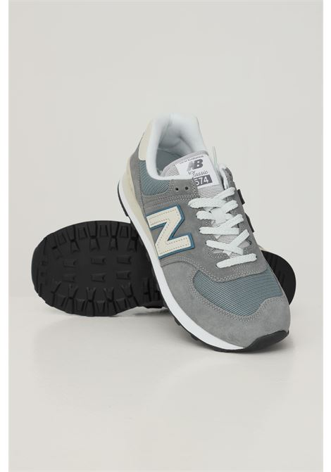 Sneakers uomo grigio new balance con inserti in tessuto NEW BALANCE   Sneakers   ML574BA2GREY