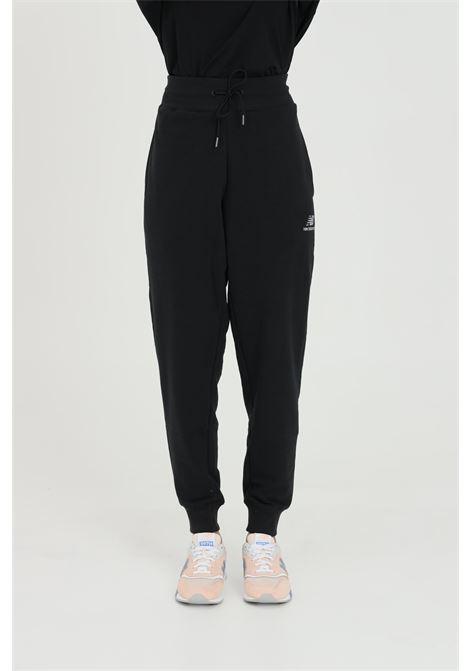 Black casual trousers with mini side logo new balance NEW BALANCE | Pants | MP11590BKBLACK