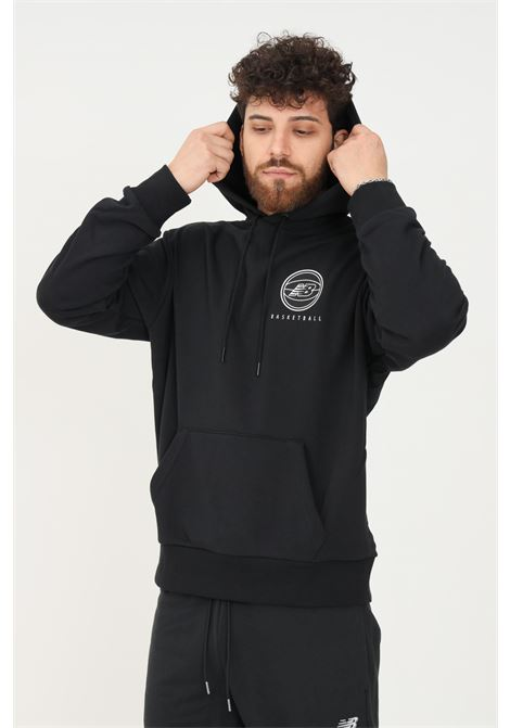 Black men's hoodie by new balance  NEW BALANCE | Sweatshirt | MT13585BK001