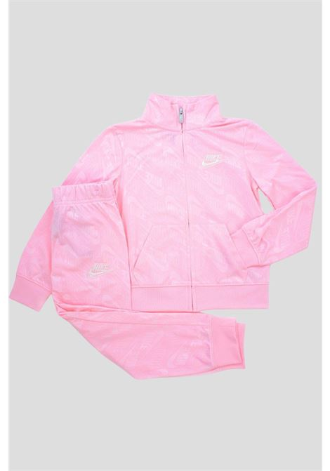 Pink nike girls sportswear allover debossed track suit NIKE | Suit | 36I103A6A