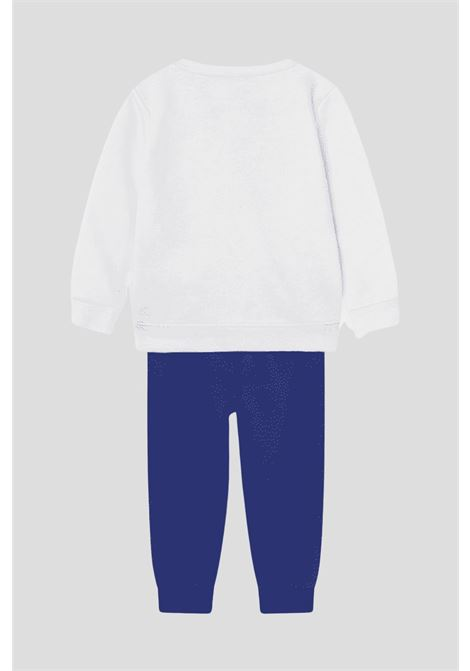 White blue newborn rise fleece taping crew set by nike  NIKE | Suit | 66H993U1A