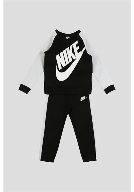 Black baby outfit by nike with maxi logo on the front NIKE | Suit | 86F563023