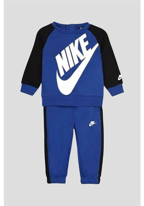 Blue baby outfit by nike with maxi logo on the front NIKE | Suit | 86F563U89