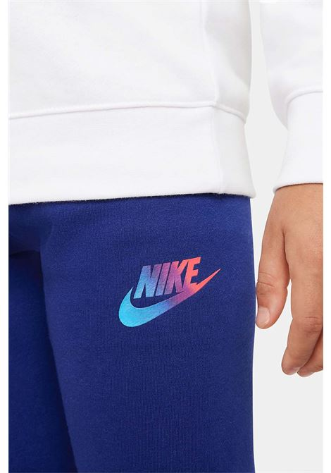 White blue baby outfit by nike with maxi logo on the front NIKE | Suit | 86H993U1A