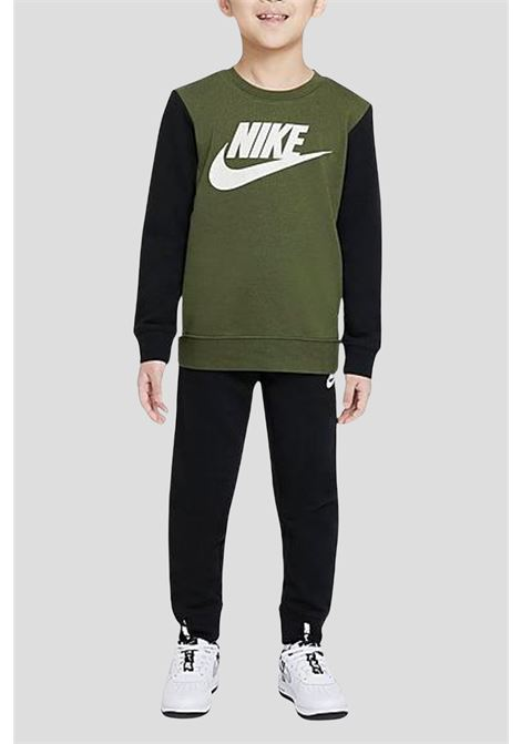 Black green baby elevated trims suit by nike  NIKE | Suit | 86I120023