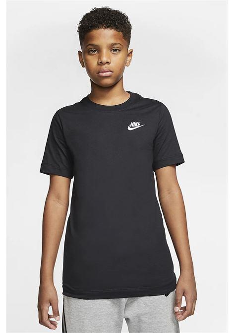 T-shirt bambino unisex in tinta unita nike con mini logo a contrasto NIKE | T-shirt | AR5254010
