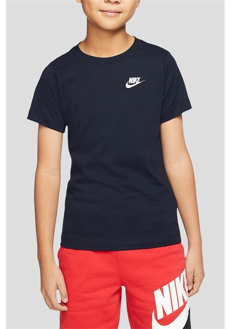 Black baby t-shirt by nike with small logo in contrast NIKE | T-shirt | AR5254451