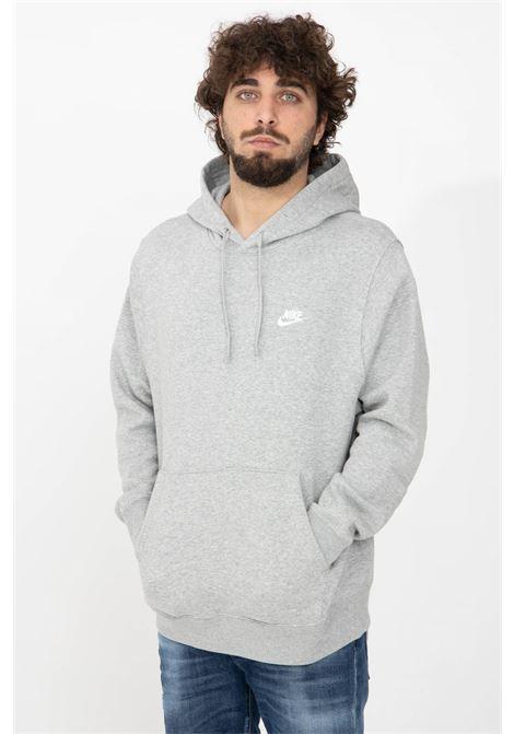 Felpa uomo grigio nike con cappuccio e lacci NIKE | Felpe | BV2654063