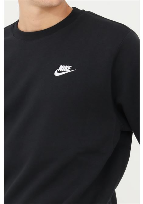 Felpa uomo nero nike girocollo con logo frontale NIKE | Felpe | BV2662010
