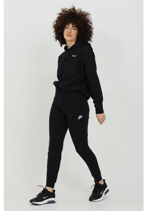 Pantaloni donna nero nike sport con logo a contrasto NIKE | Pantaloni | BV4099010