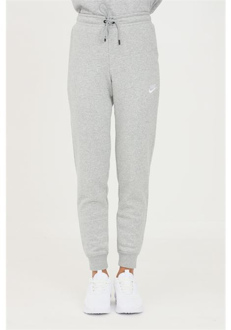Pantaloni donna grigio nike sport con logo a contrasto NIKE | Pantaloni | BV4099063