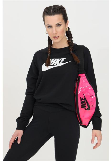 Felpa donna nero nike girocollo con logo a contrasto NIKE | Felpe | BV4112010