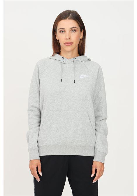 Felpa donna grigio nike con cappuccio NIKE | Felpe | BV4124063