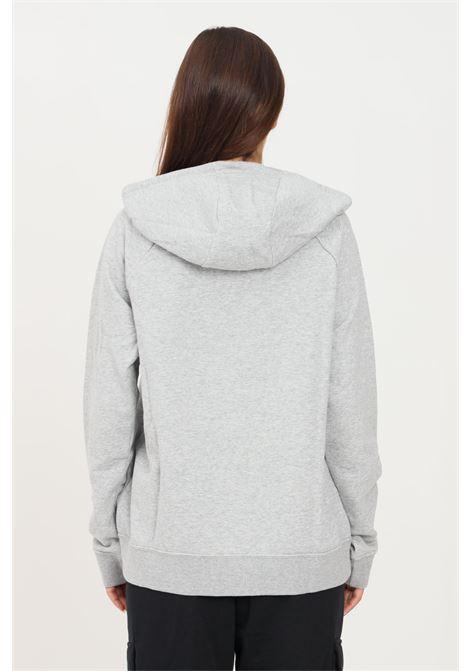 Felpa donna grigio nike con cappuccio e maxi logo frontale NIKE | Felpe | BV4126063