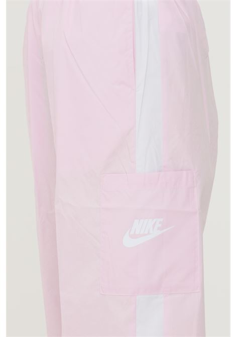 Pantaloni da donna rosa nike casual con elastico in vita NIKE | Pantaloni | CJ7346695