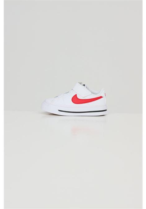 White newborn nike court legacy tdv sneakers  NIKE | Sneakers | DA5382105