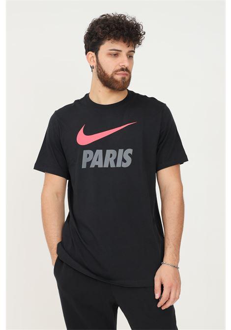 T-shirt uomo nero nike a manica corta con logo fluo frontale NIKE | T-shirt | DB4814011