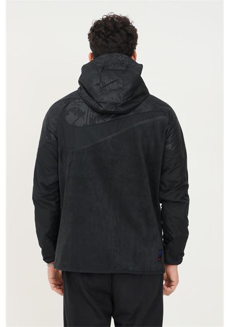 Giacca da calcio in tessuto fc barcelona awf uomo nero con zip e cappuccio NIKE | Felpe | DB7797014