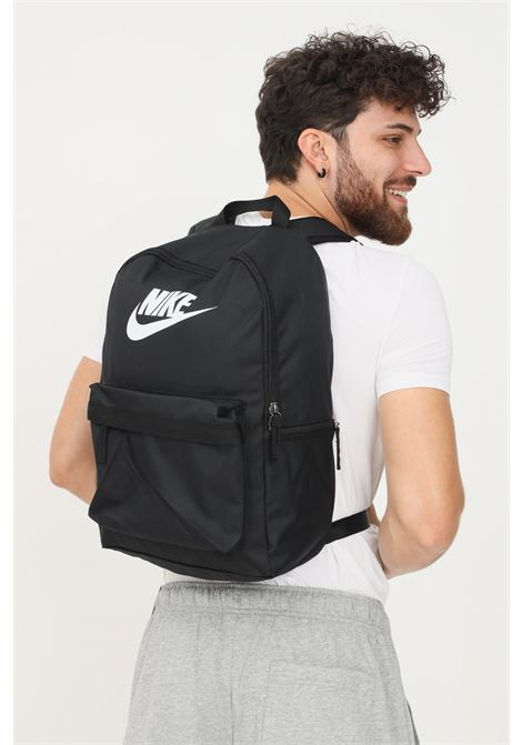 Black unisex backpack by nike with contrasting logo on the front NIKE | Backpack | DC4244010