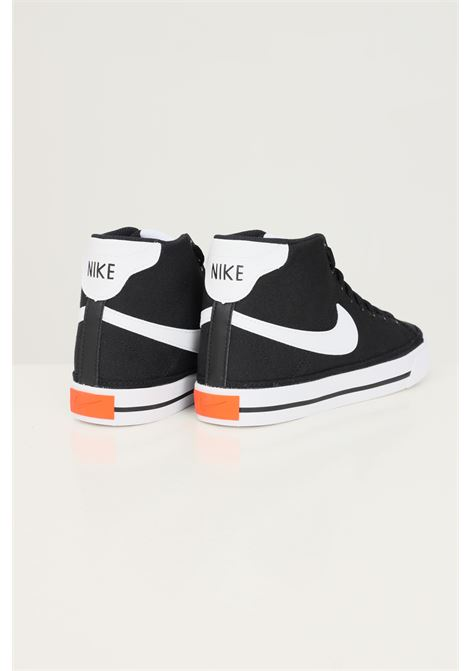 Sneakers w nike court legacy cnvs mid unisex nero con applicazione logo a contrasto NIKE | Sneakers | DD0161001