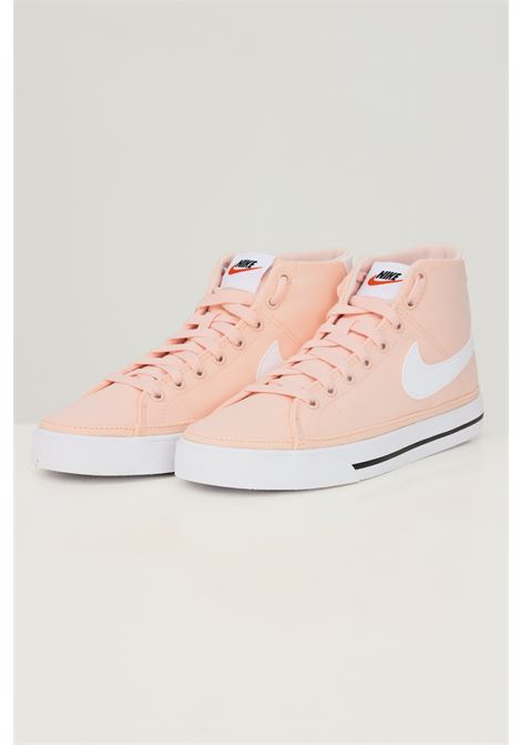 Sneakers w nike court legacy cnvs mid donna rosa con applicazione logo a contrasto NIKE | Sneakers | DD0161800