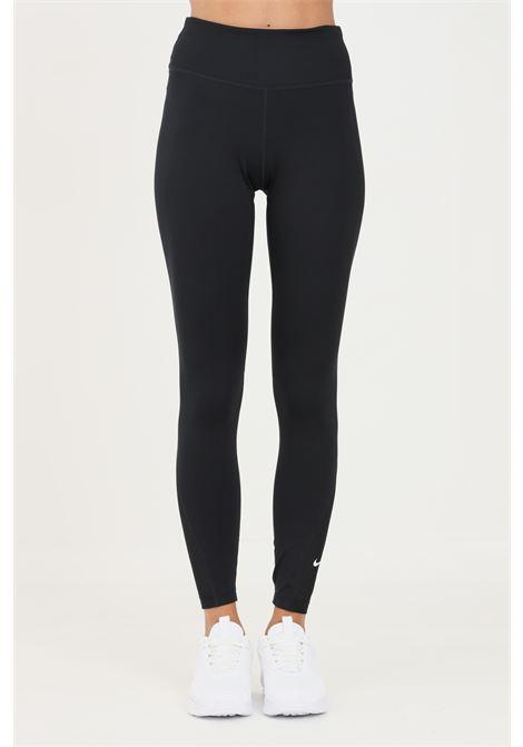 Leggings donna nero nike con trasparenze sul fondo NIKE | Leggings | DD0249010